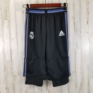 adidas Youth Football Shorts/Pants Black Elastic
